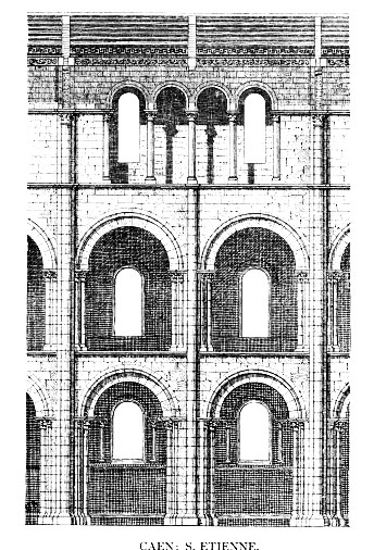 Plan Section Elevation Drawings : Medieval caen st Étienne home page