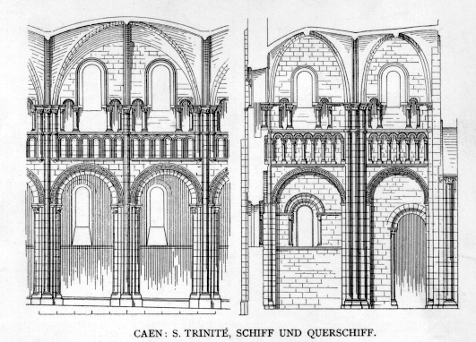Plan Elevation Section : Medieval caen la trinité home page