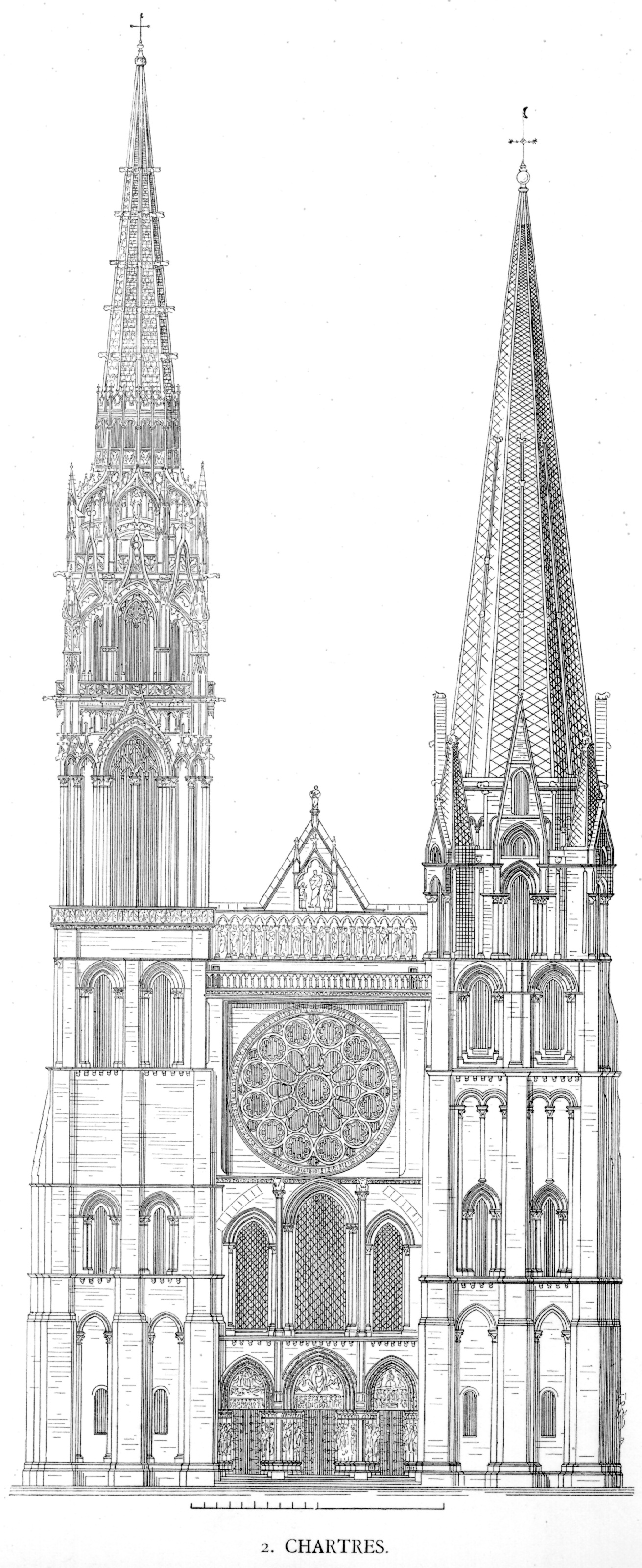 Medieval Chartres Plans And Drawings