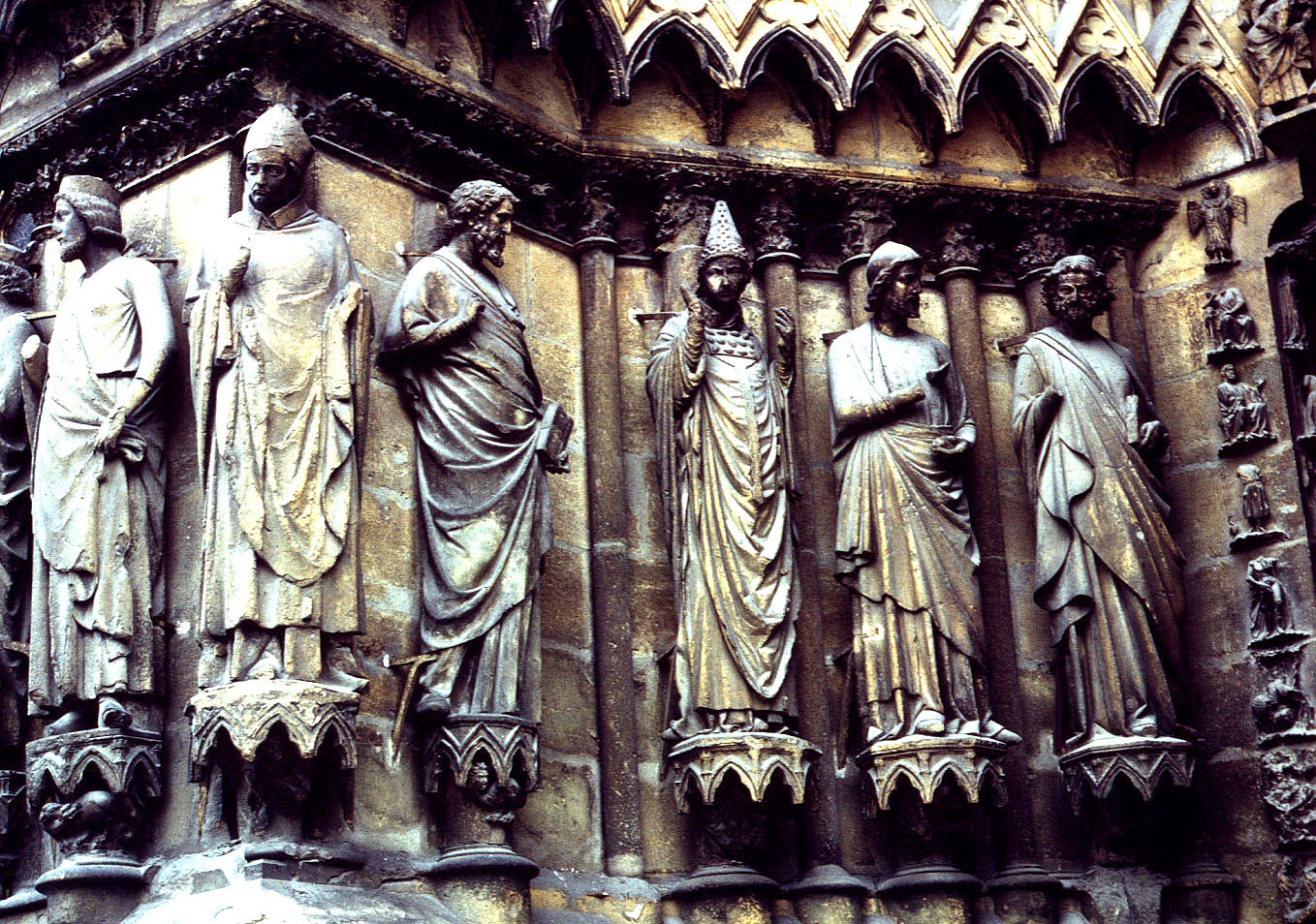 Reims Cathedral Sculpture Medieval Cathedral of Reims