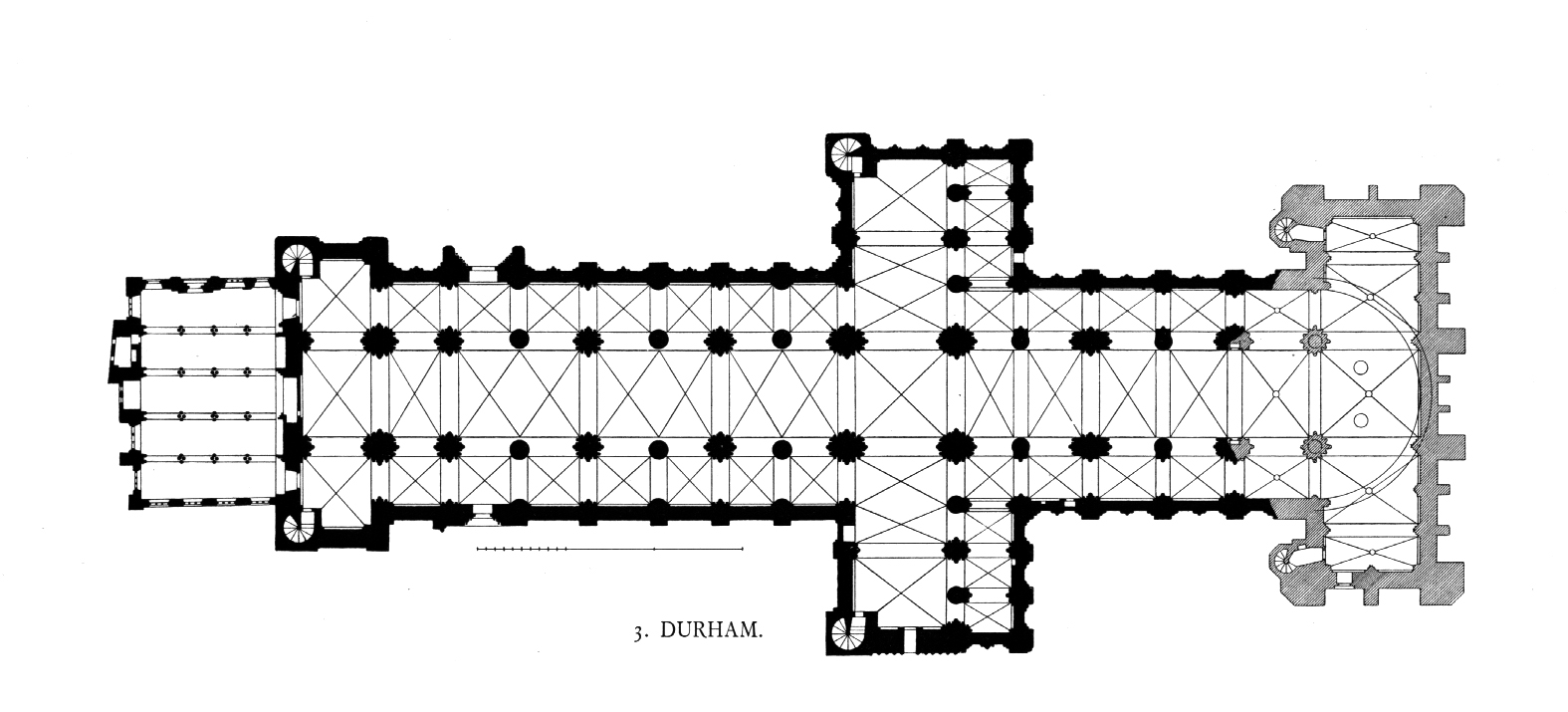 Medieval Durham Cathedral Plans And Drawings