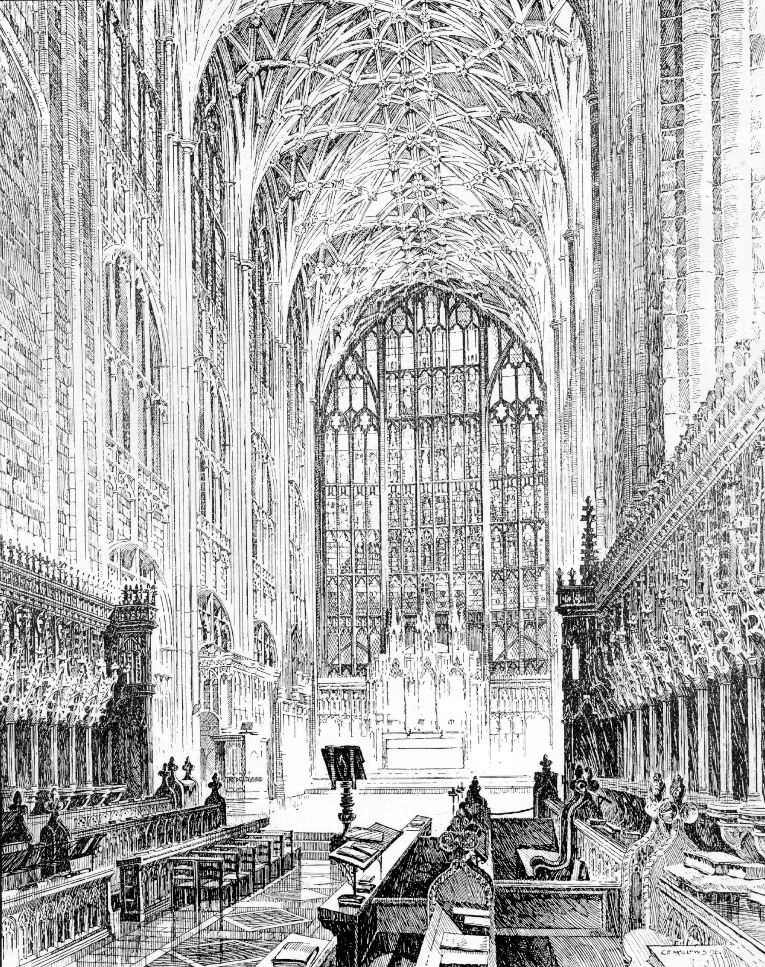 Medieval Gloucester Cathedral - Interior