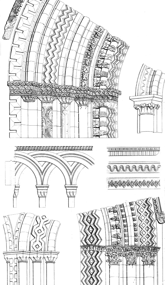 Romanesque Architecture Diagram Diagrams In Wild Plate 5