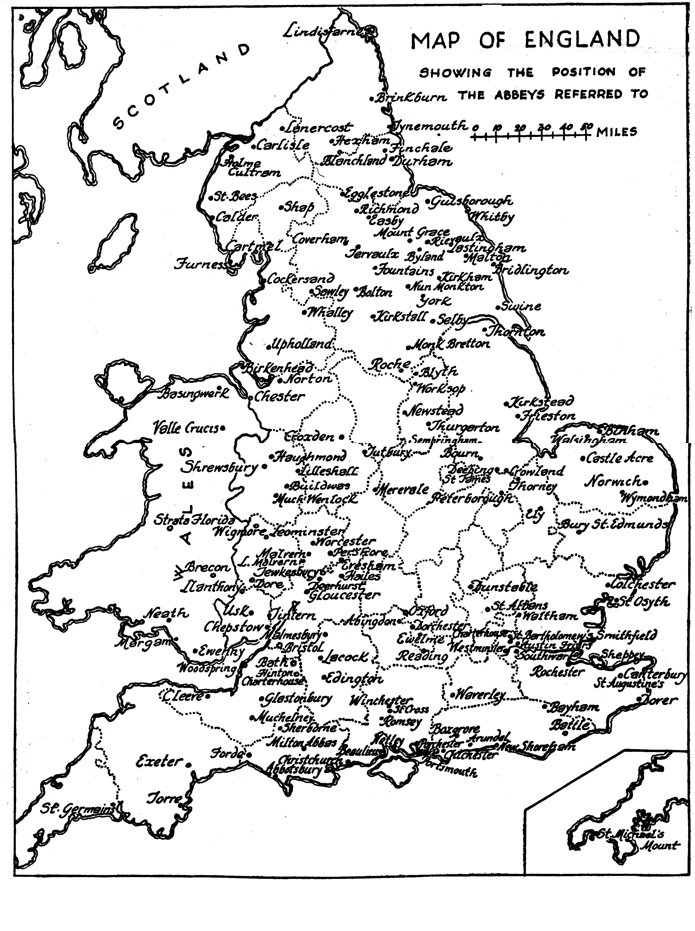 Map Of England Circa 900.Medieval Britain General Maps