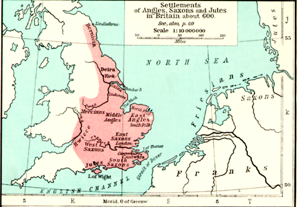 Map Of England In 9th Century.Medieval Britain General Maps