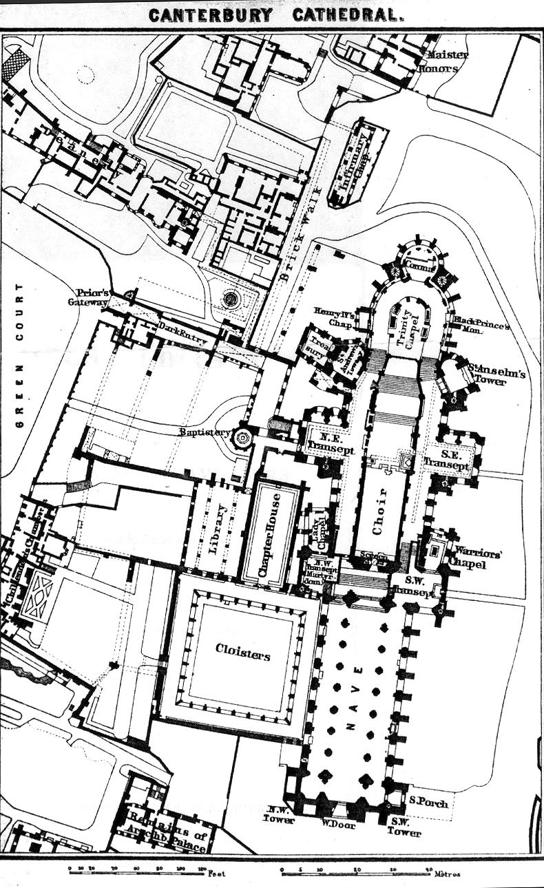 Medieval canterbury Canterbury floor plan