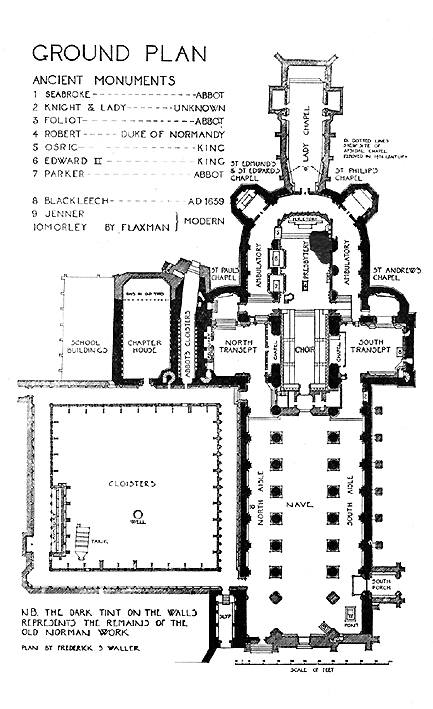 Medieval gloucester cathedral plans and drawings for South cathedral mansions floor plans
