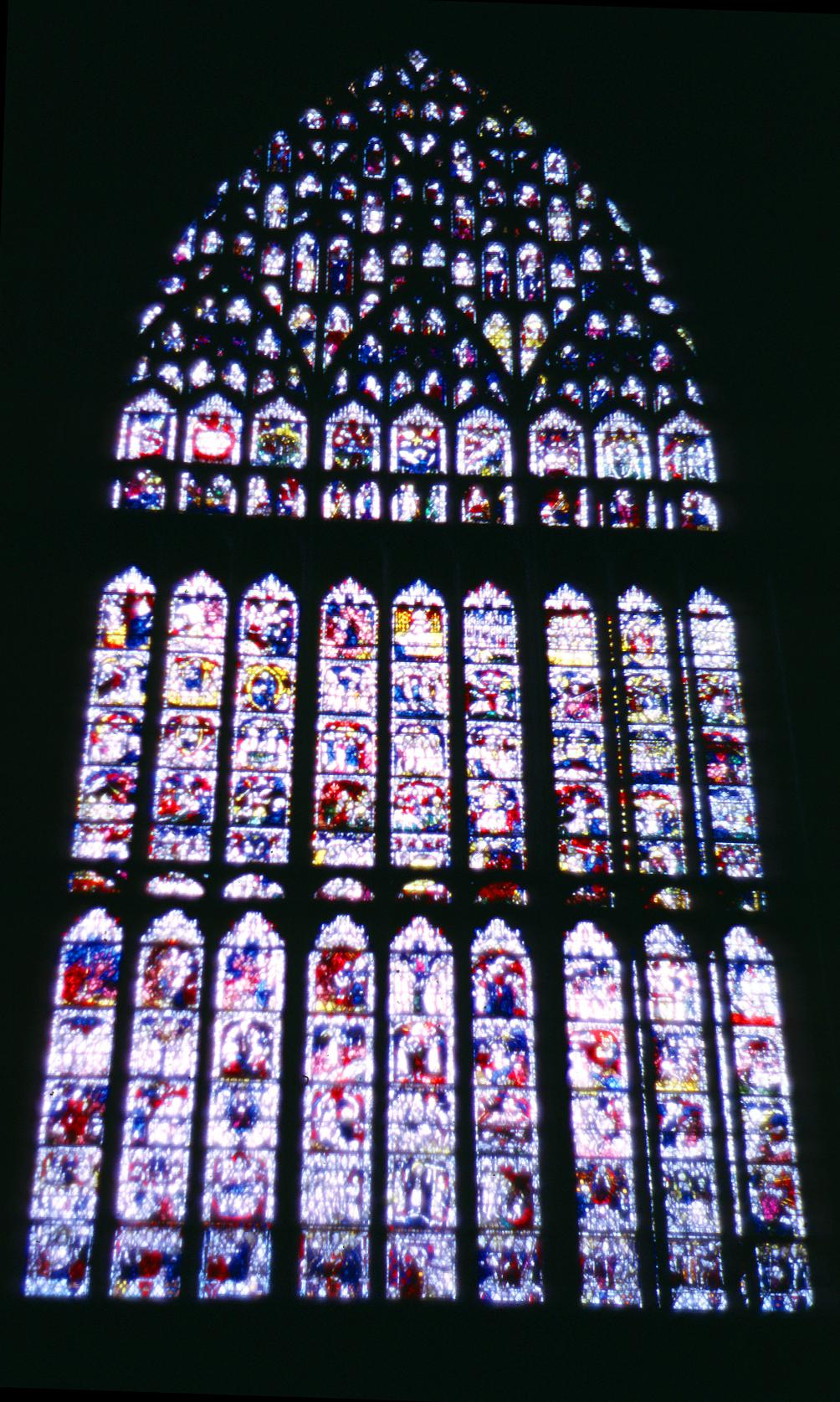 Medieval york minster interior for West window york minster