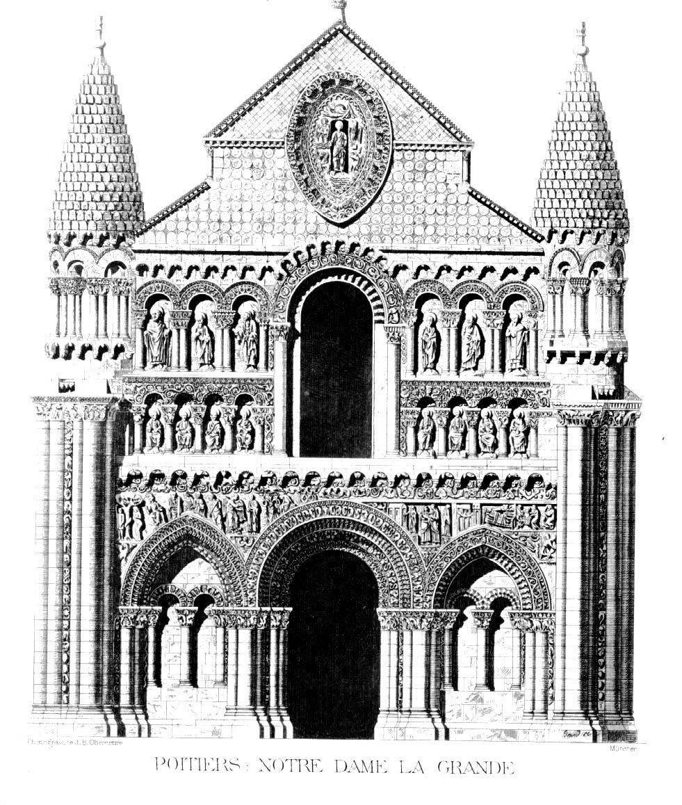 Medieval Poitiers Notre Dame De La Grande Plans Drawings