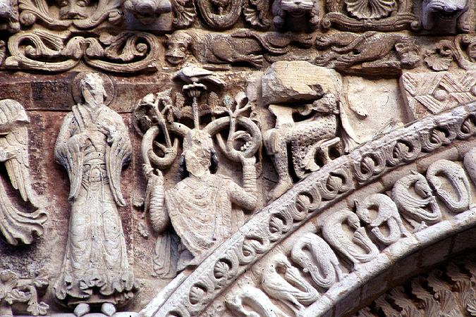 Medieval Poitiers Notre Dame De La Grande Frieze