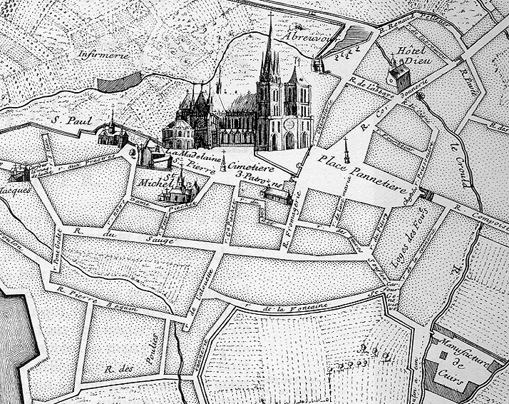 Saint Denis France Map.Medieval St Denis Maps And Plans