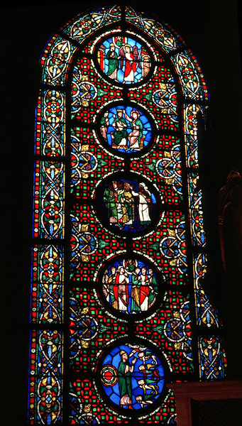 Medieval Saint Denis Ezekiel Window