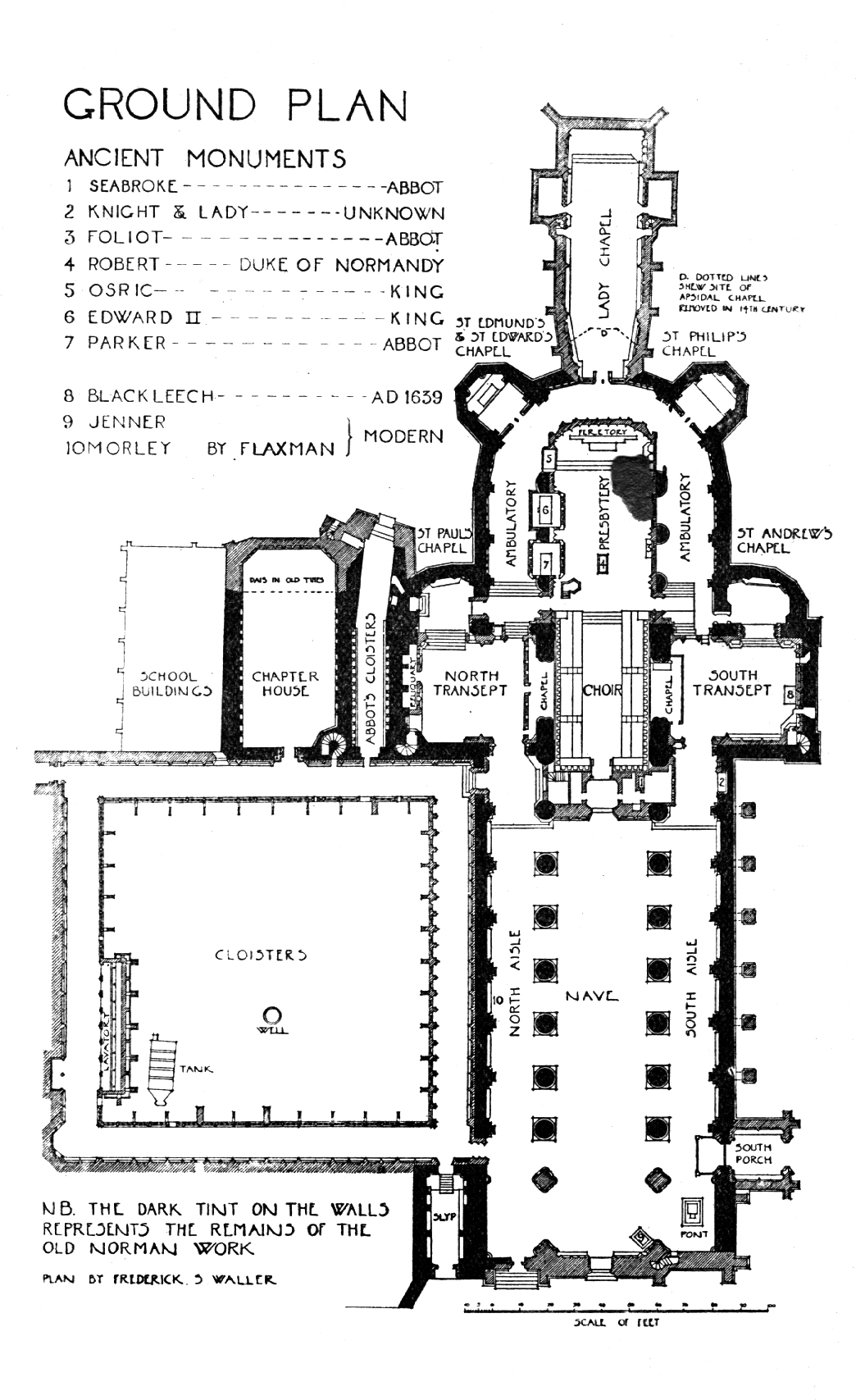 Medieval Gloucester Cathedral Plans And Drawings
