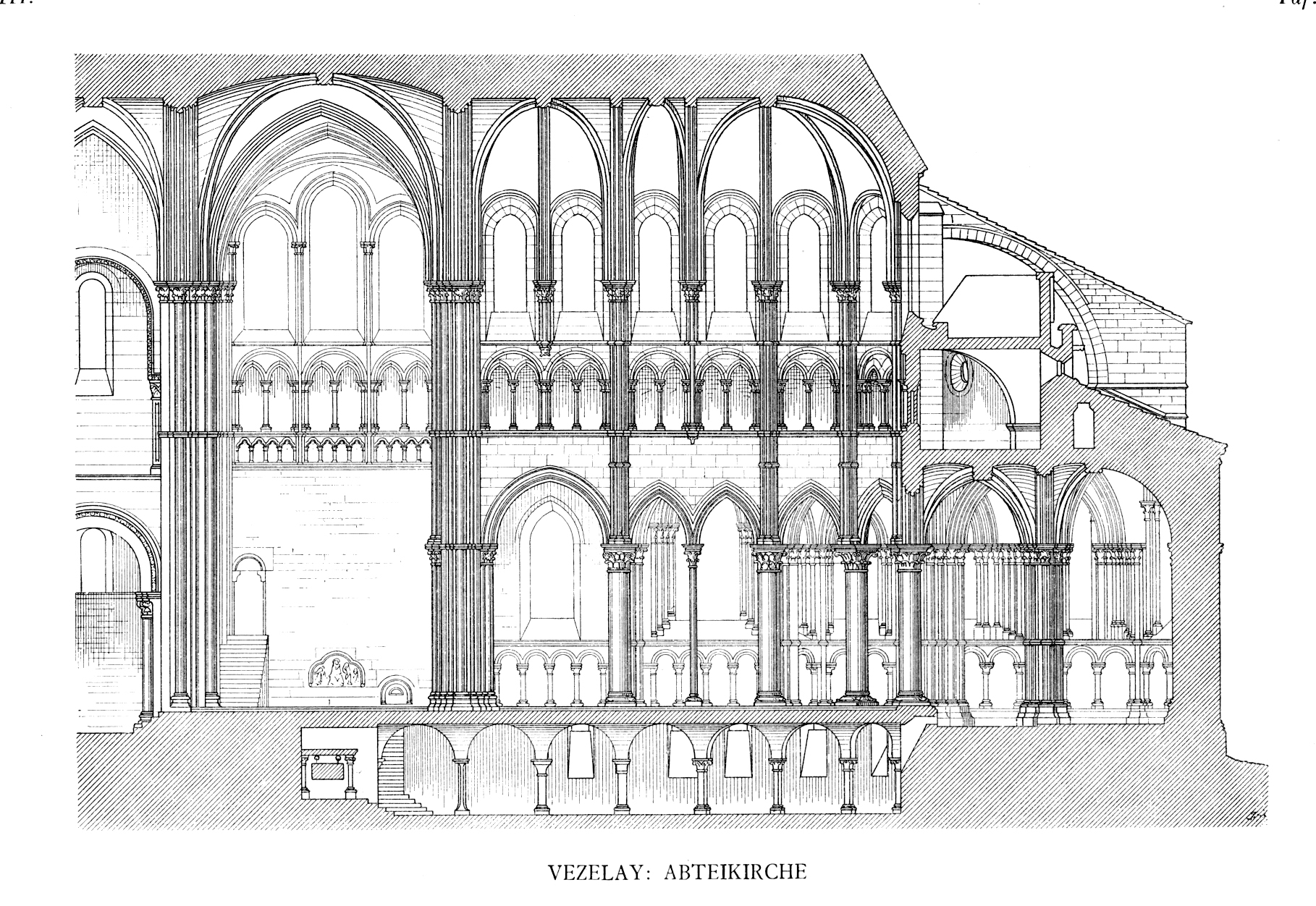 medieval vézelay plans and drawings